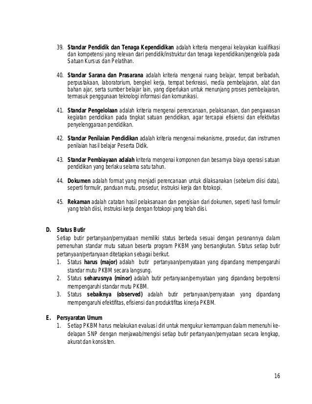 Instrumen Akreditasi Pkbm Ban Pnf 2014