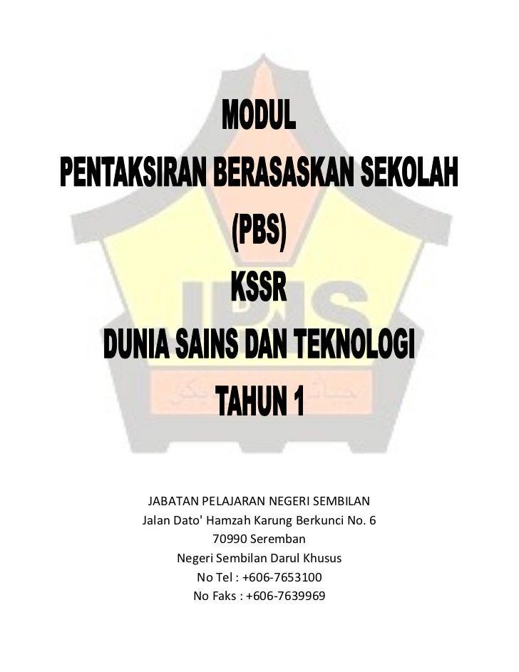 JABATAN PELAJARAN NEGERI SEMBILANJalan Dato Hamzah Karung Berkunci No. 6             70990 Seremban      Negeri Sembilan D...