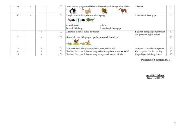 Instrumen penelitian IPA Kelas 4 siklus 1