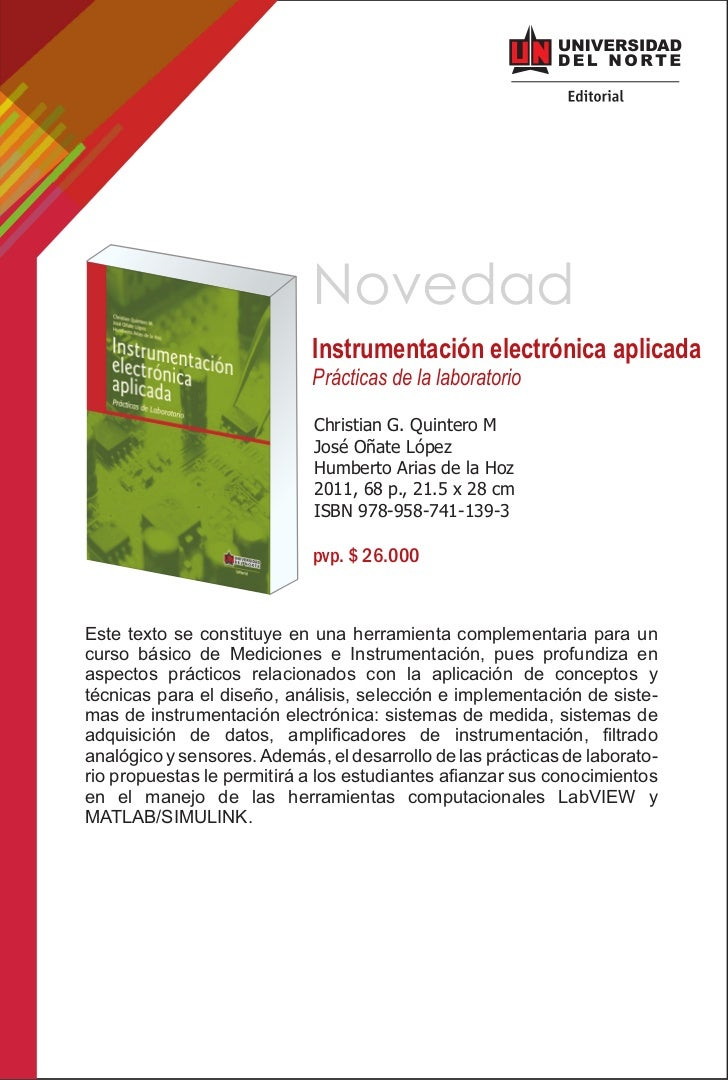 Novedad                             Instrumentación electrónica aplicada                             Prácticas de la labor...