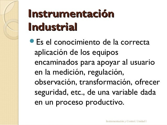 Instrumentación industrial Slide 2