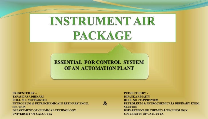 Instrument Air Package