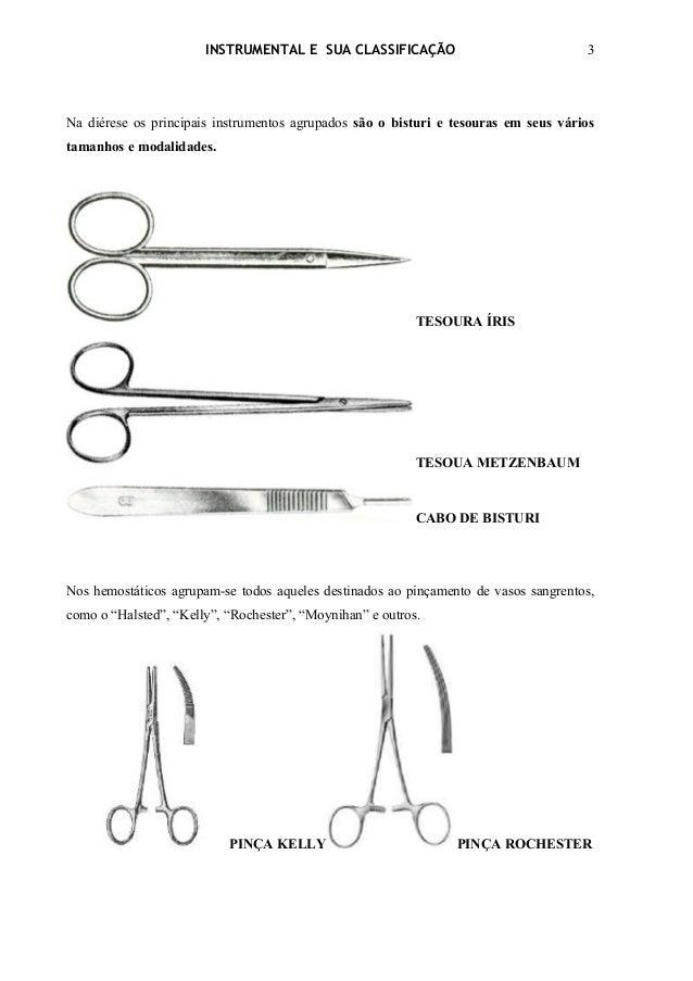 INSTRUMENTAL E SUA CLASSIFICAÇÃO                              3Na diérese os principais instrumentos agrupados são o bistu...