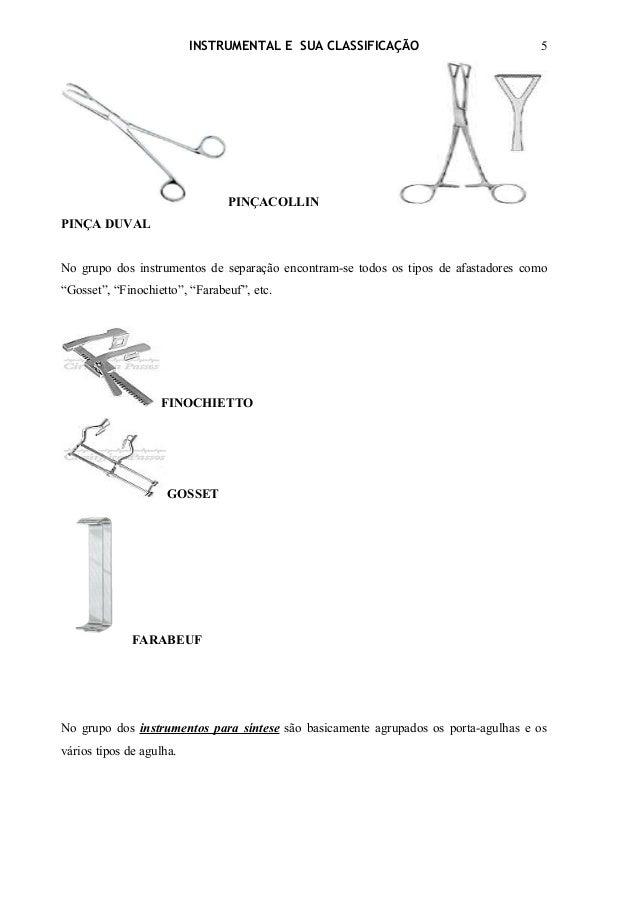 INSTRUMENTAL E SUA CLASSIFICAÇÃO                          5                                PINÇACOLLINPINÇA DUVALNo grupo ...