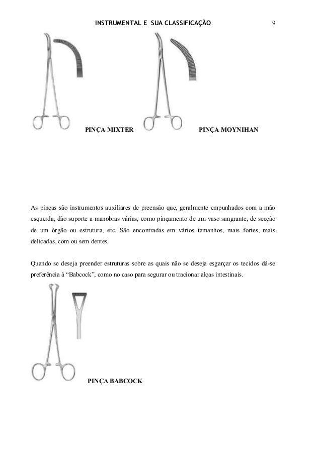 INSTRUMENTAL E SUA CLASSIFICAÇÃO                                 9                    PINÇA MIXTER                        ...