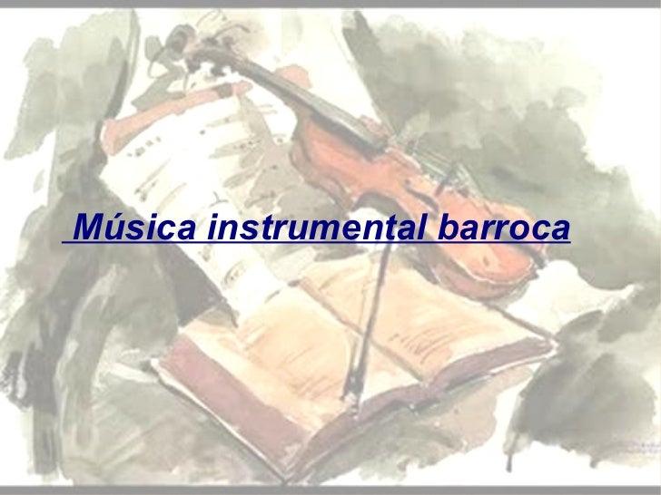 Música instrumental barroca