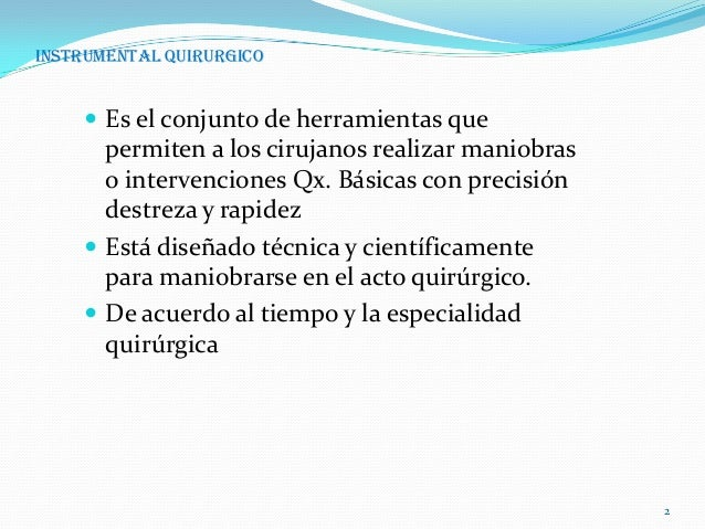 Instrumental quirurgico Slide 2