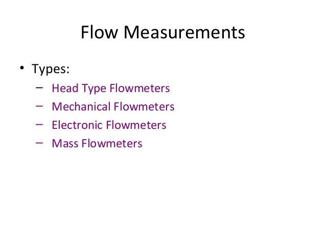 Different Type of Head Type Flowmeters • Orifice Plate • Venturi • Flow Nozzle • Pitot Tube • Elbow