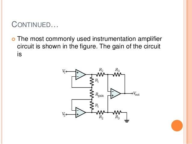 instrumentation amplifier in ecg rh slideshare net MOS FET Amplifier Circuit Power Amplifier Circuit Diagram