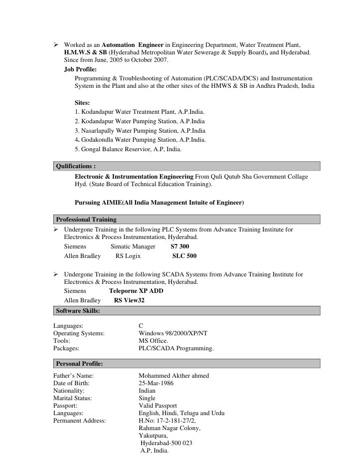 instrumentation engineer cover letter - Goal.blockety.co