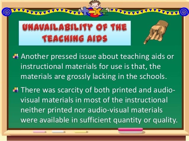 Problems Associated with the Use of Instructional Materials