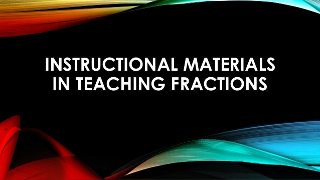thesis about instructional materials in mathematics School quality factors and secondary school students' achievement in mathematics in south-western and north-  instructional materials.