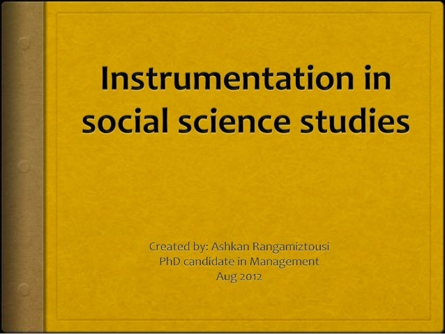 Instrumentation,Introduction: One of the most important components of aresearch design is the research instruments because...