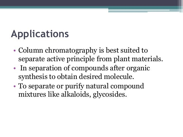 instrumentation of column and gas chromatography