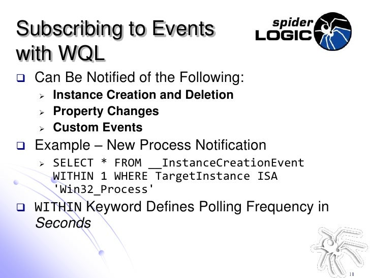 Application Instrumentation with WMI