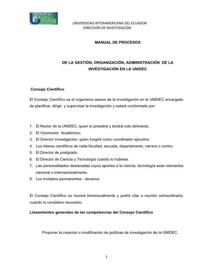 UNIVERSIDAD INTERAMERICANA DEL ECUADOR                               DIRECCIÓN DE INVESTIGACIÓN                           ...