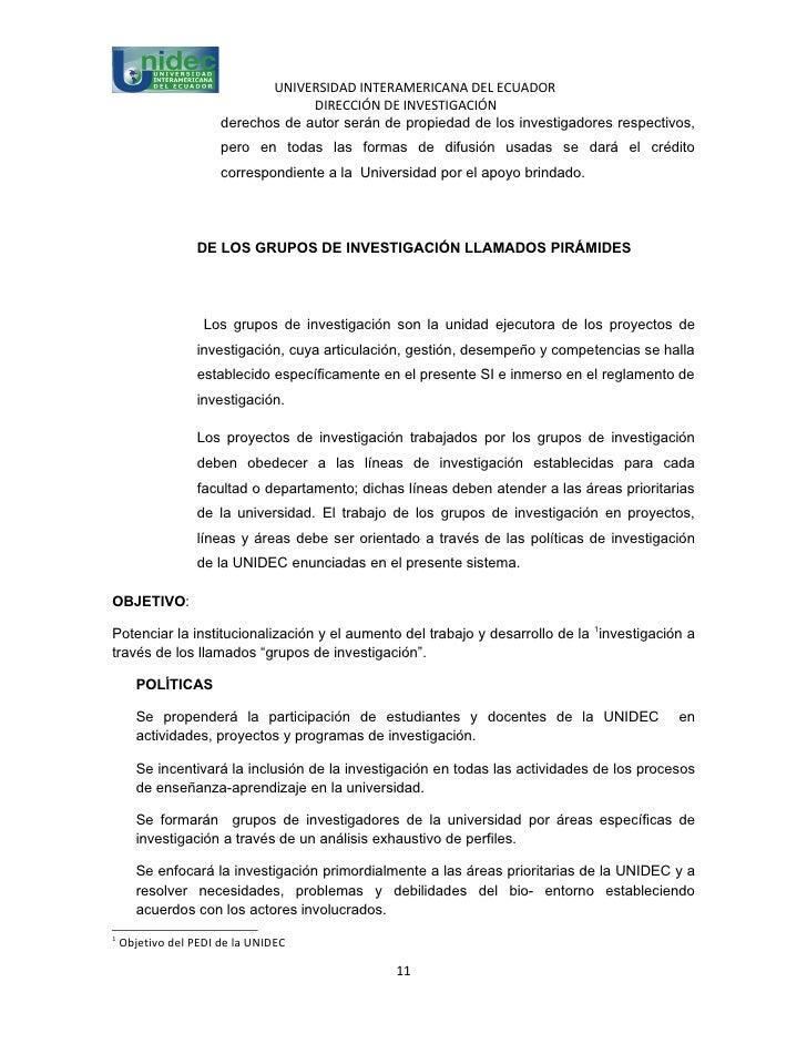 UNIVERSIDAD INTERAMERICANA DEL ECUADOR                                   DIRECCIÓN DE INVESTIGACIÓN                      d...