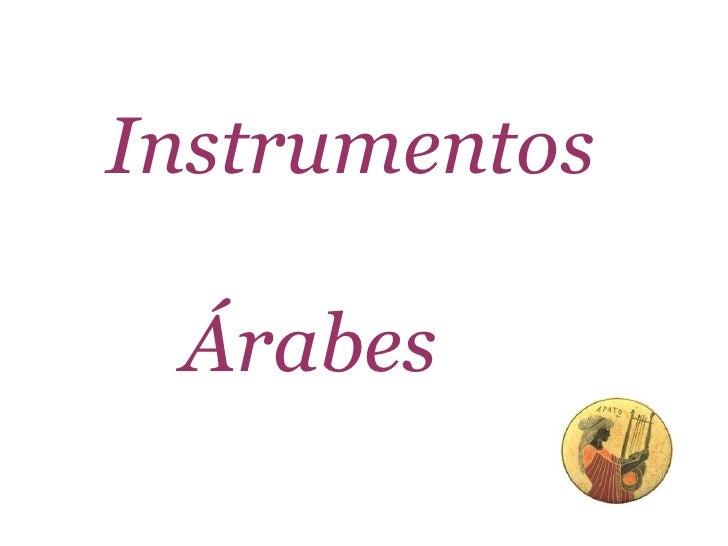 Instrumentos   Árabes