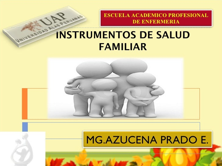 ESCUELA ACADEMICO PROFESIONAL               DE ENFERMERIAINSTRUMENTOS DE SALUD       FAMILIAR    MG.AZUCENA PRADO E.