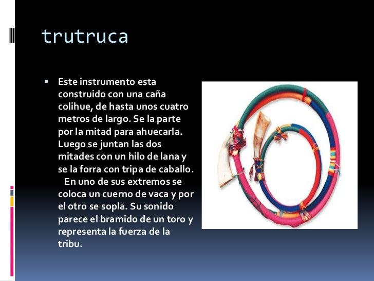Instrumentos cultura aymara y mapuche