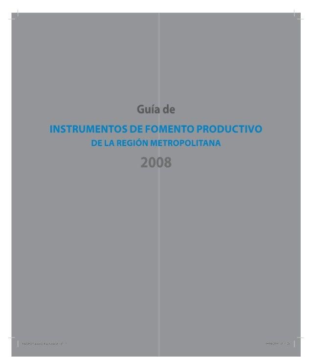 Instrumentos De Fomento Productivo