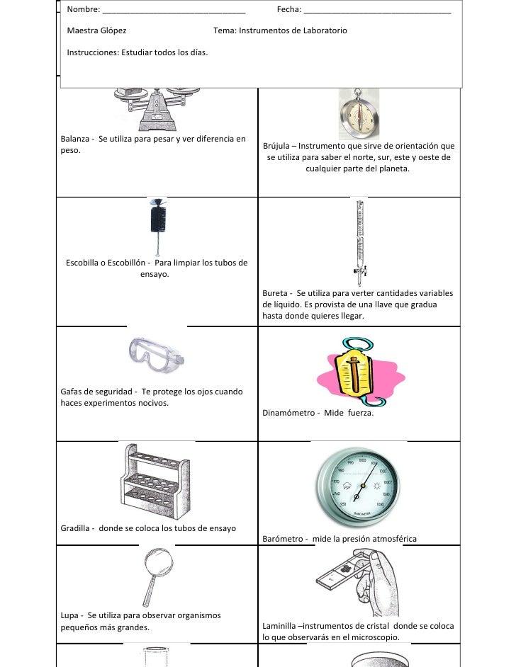 Instrumentos De Laboratorio Material Fina