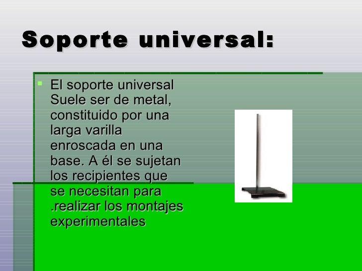 Instrumentos de laboratorio tp for Universal definicion