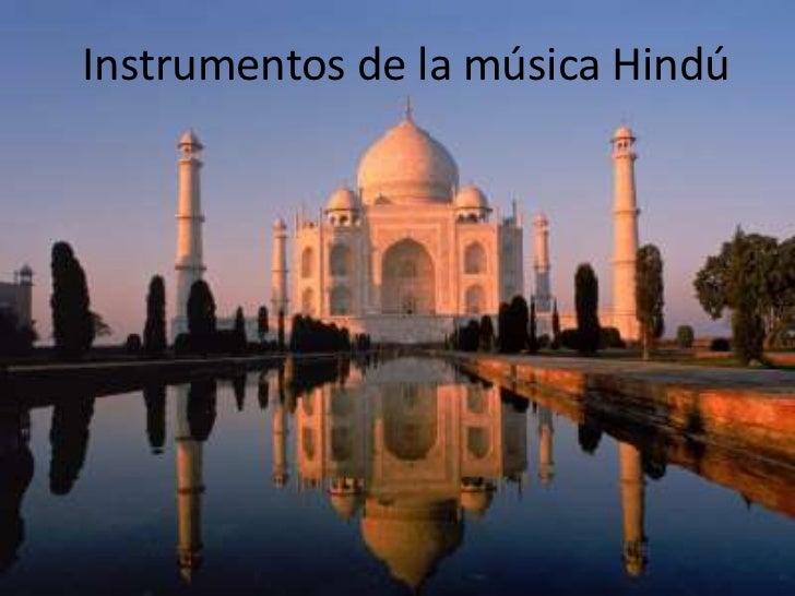 Instrumentos de la música Hindú