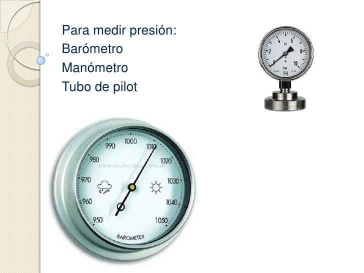 Instrumentos de medici n for Manometro para medir presion de agua