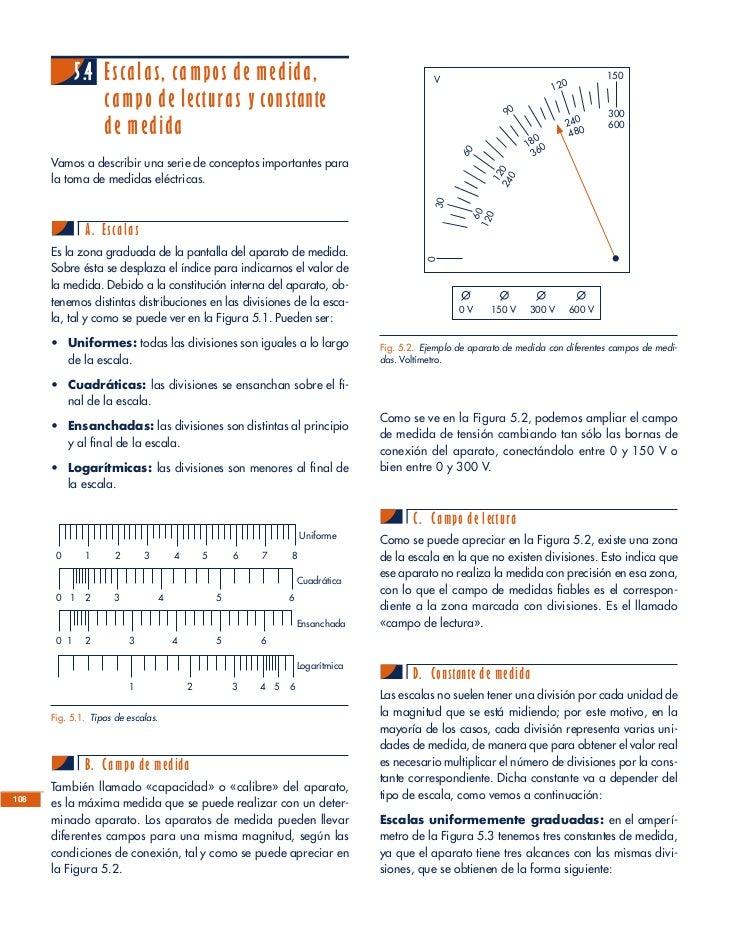 Instrumentos de medida for Escala de medidas