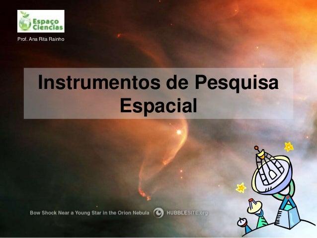 Prof. Ana Rita Rainho         Instrumentos de Pesquisa                 Espacial