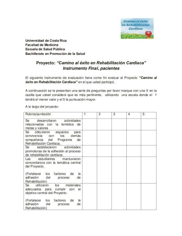 """Universidad de Costa Rica Facultad de Medicina Escuela de Salud Pública Bachillerato en Promoción de la Salud  Proyecto: """"..."""