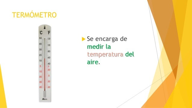 59921477b TERMÓMETRO  Se encarga de medir la temperatura del aire.