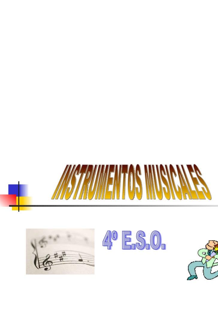 INSTRUMENTOS MUSICALES 4º E.S.O.