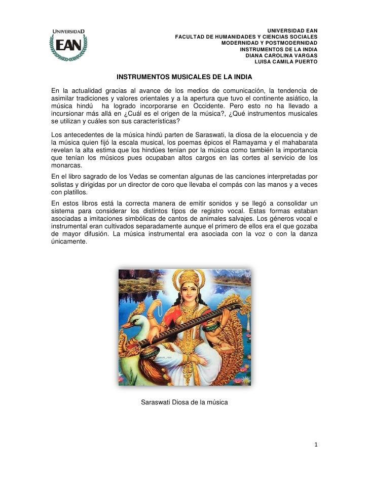 UNIVERSIDAD EAN                                           FACULTAD DE HUMANIDADES Y CIENCIAS SOCIALES                     ...