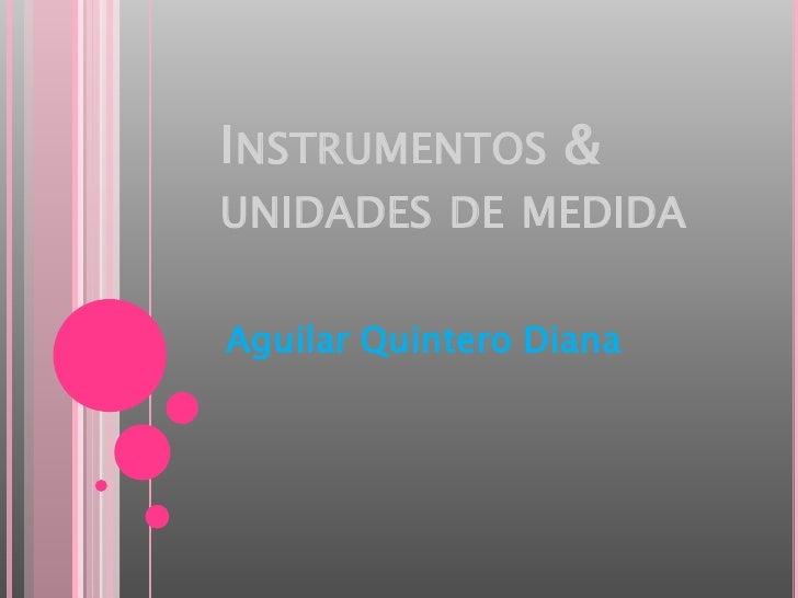 Instrumentos & unidades de medida<br />Aguilar Quintero Diana<br />
