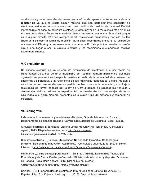Instrumentos y mediciones electricas FISICA 2