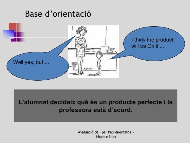 L'alumnat decideix què és un producte perfecte i la professora està d'acord.  Base d'orientació  I think the product will ...