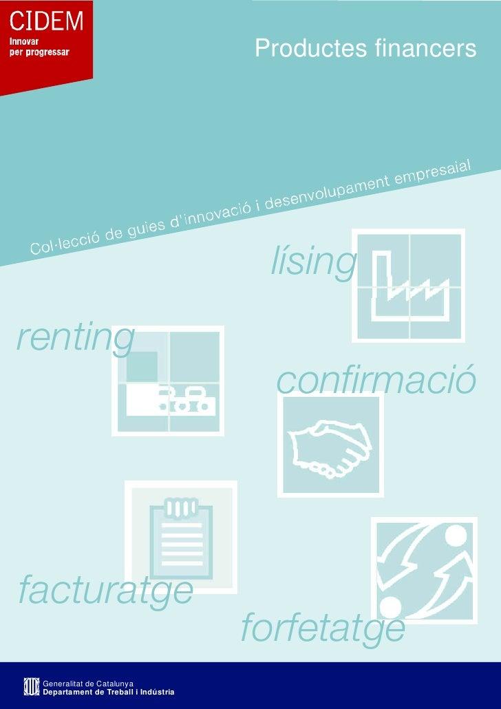 Productes financers                                            lísing renting                                         conf...