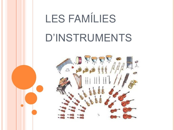 LES FAMÍLIESD'INSTRUMENTS