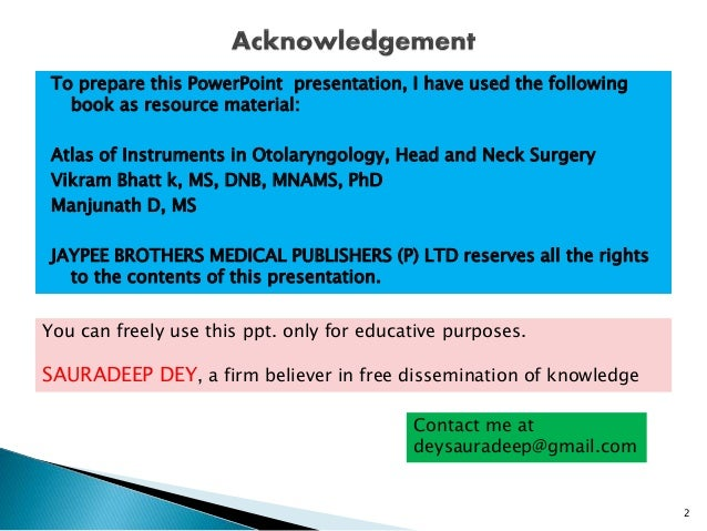 Otorhinolaryngology ( ENT ) Instruments for Final MBBS Part 1
