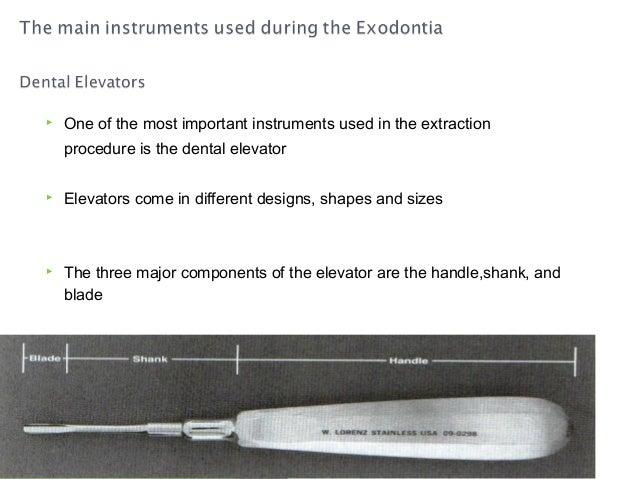 Instrument used in exodontia Slide 2