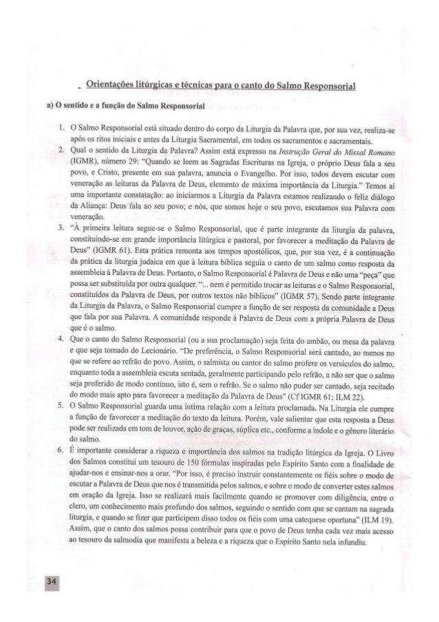 Instrução geral do missal romano   salmo responsorial