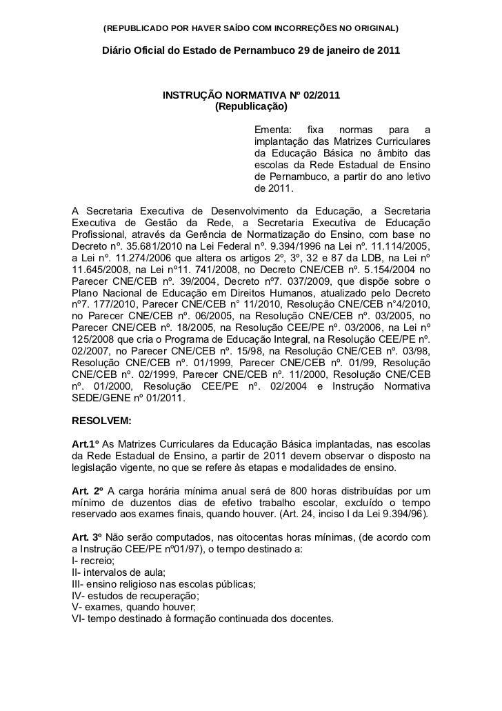 (REPUBLICADO POR HAVER SAÍDO COM INCORREÇÕES NO ORIGINAL)      Diário Oficial do Estado de Pernambuco 29 de janeiro de 201...