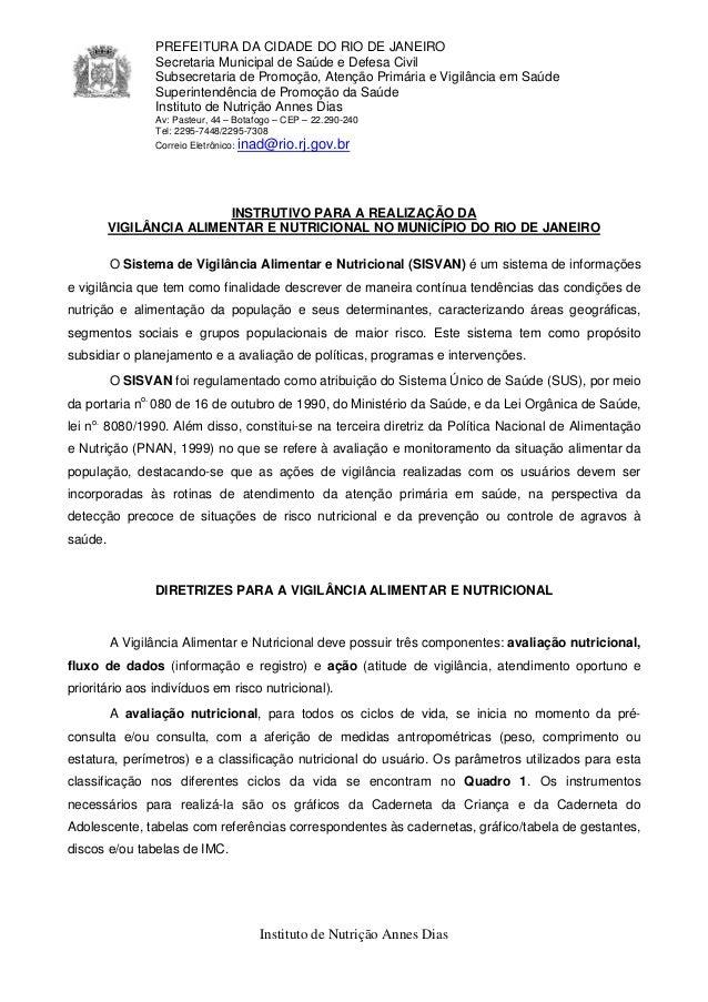 PREFEITURA DA CIDADE DO RIO DE JANEIRO                Secretaria Municipal de Saúde e Defesa Civil                Subsecre...
