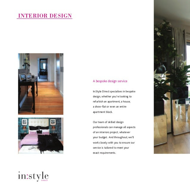 Instyle direct interior design furniture packs for Interior designs direct