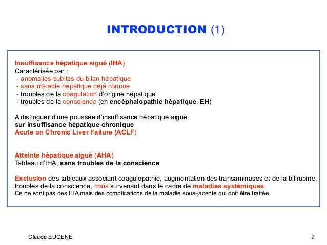 Insuffisance hépatique aiguë (Hépatite fulminante) Slide 2