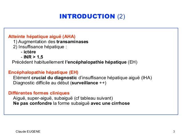 Insuffisance hépatique aiguë (Hépatite fulminante) Slide 3