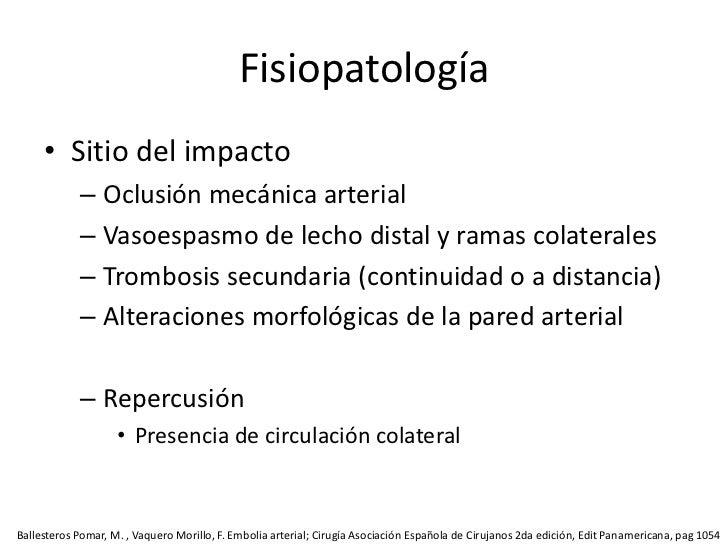 Por la trombosis de la carótida