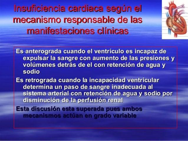 Insuficiencia cardiaca según elInsuficiencia cardiaca según el mecanismo responsable de lasmecanismo responsable de las ma...
